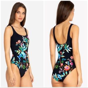 Johnny Was Lei Floral Tank Suit. New  size XS